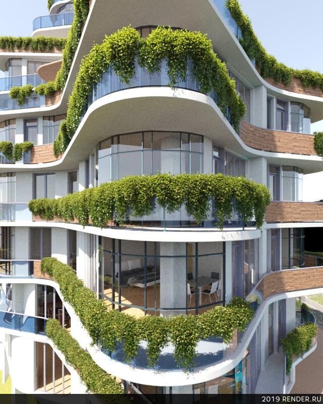 Экстерьер, Визуализация экстерьеров, 3D архитектура, архитектура, дизайн
