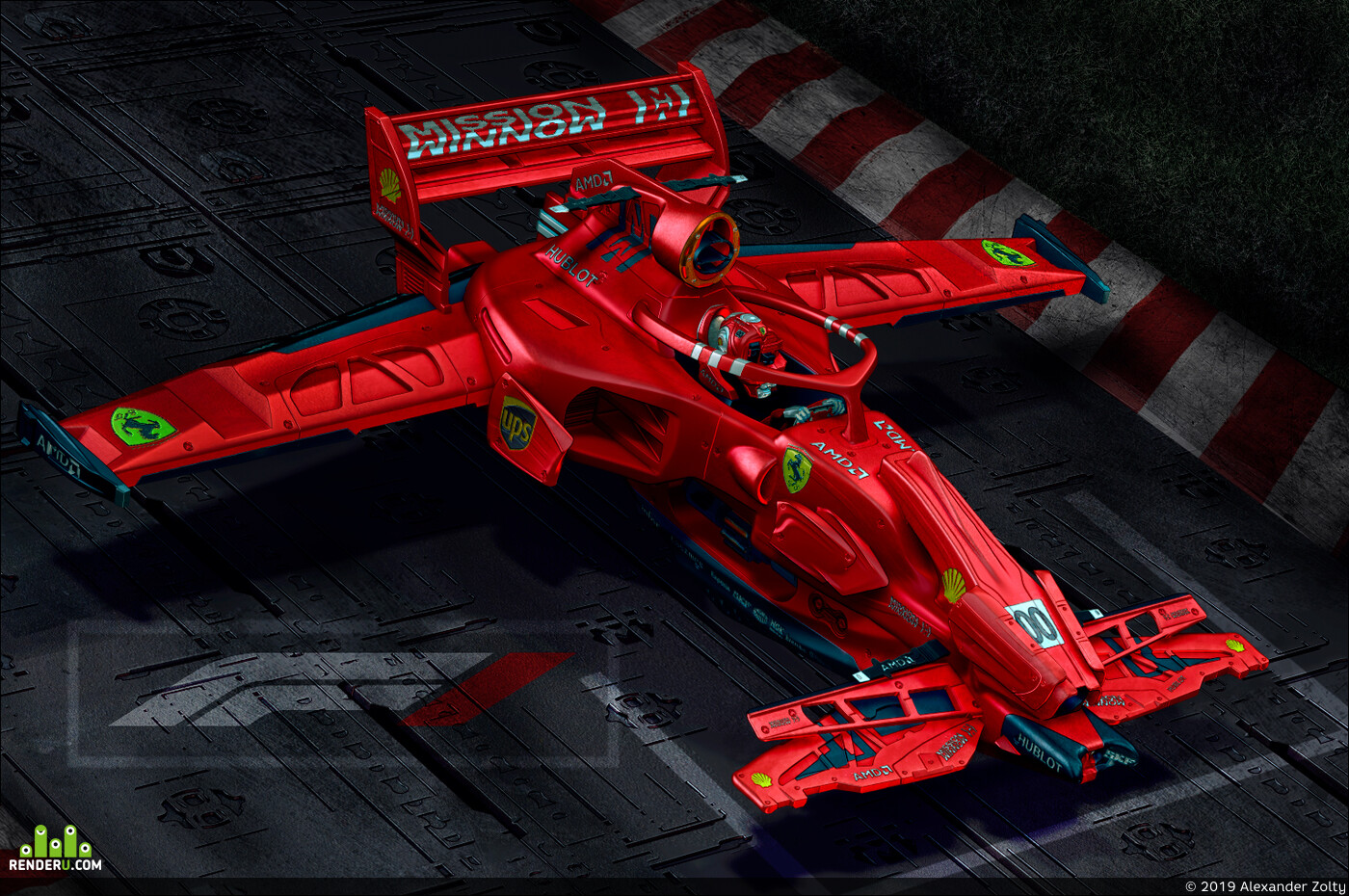 formula1, sport car, Car / motorcycle, ZBrush, Adobe Photoshop