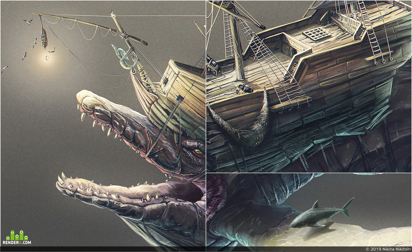 Concept Art, creatures, creaturedesign