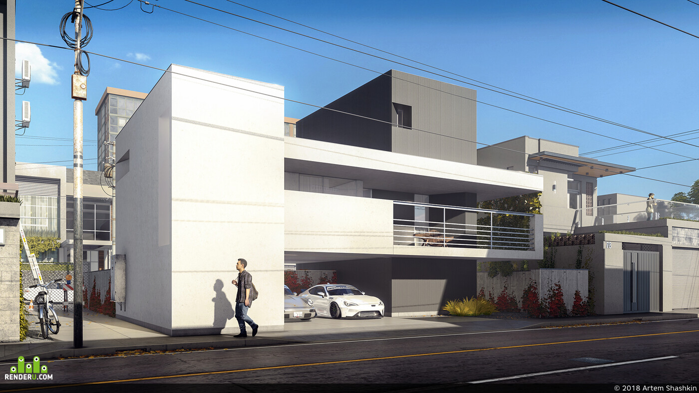 exterior visualisation, 3d exterior, Exterior, 3d visualization, architectural visualization, 3D Architecture, Architecture, Archiviz, concept architecture, architecturalvisualization