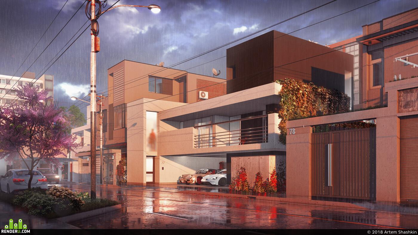 Exterior architecture, visualization, visuals, visualisation, architect, exterior design, environment desigh, environment design, Environments