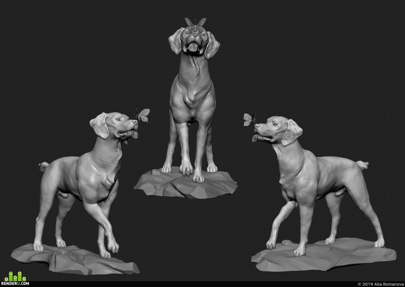 Животные, ZBrush - 3D Скульптинг, трехмерная графика