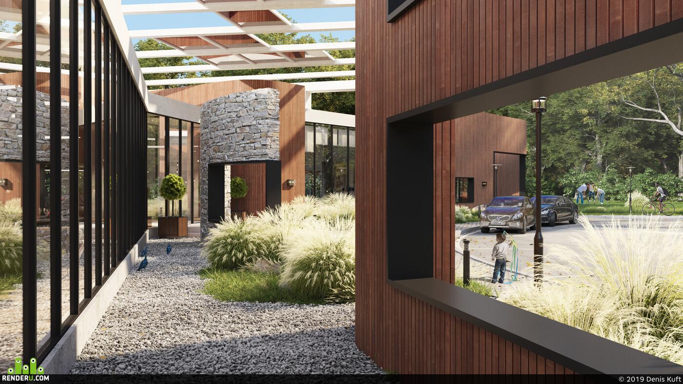 3ds Max, Corona Renderer, exterior visualisation