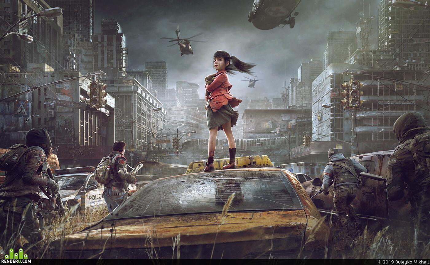 Character, Environments, distopia