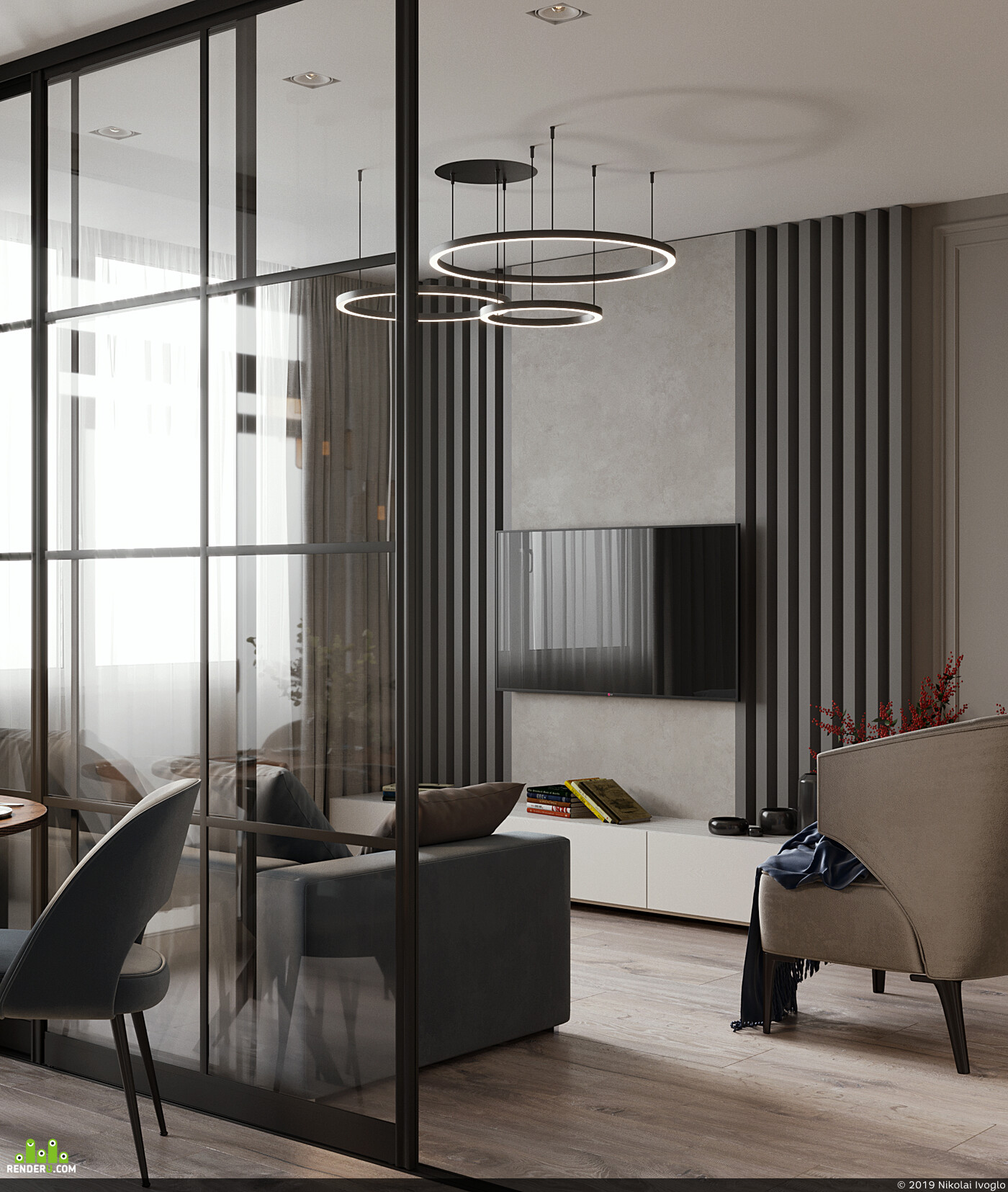 interiordesign, 3ds Max, 3D visualization,, CG, modern style