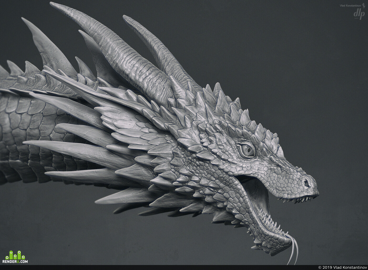 dragon, Fantasy, fantasyart, ZBrush, sculpting, creature, creature design, Character, 3D Animation, texturing