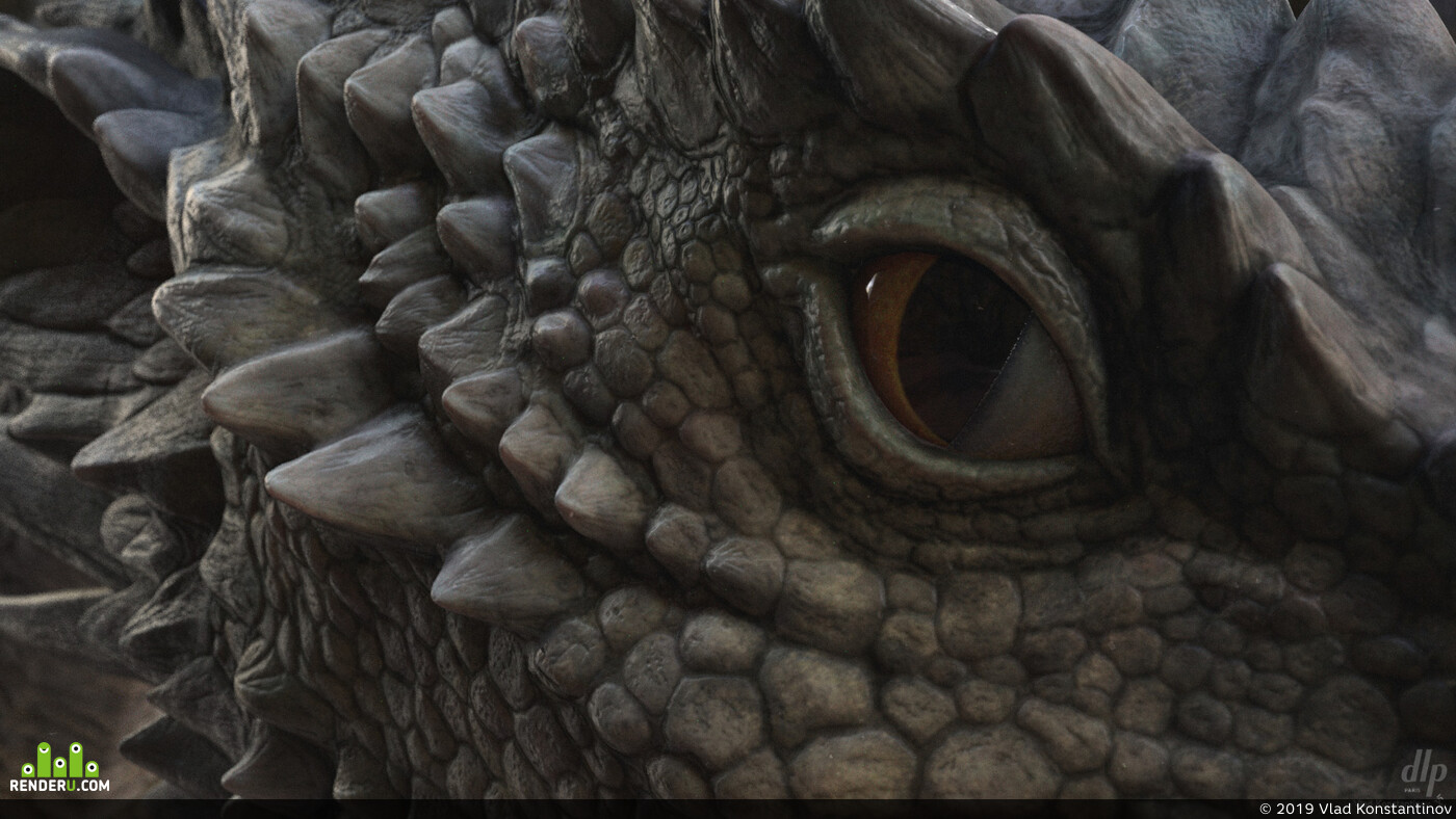 dragon, Fantasy, fantasyart, ZBrush, sculpting, creature, creature design, Character, 3D Animation, texturing