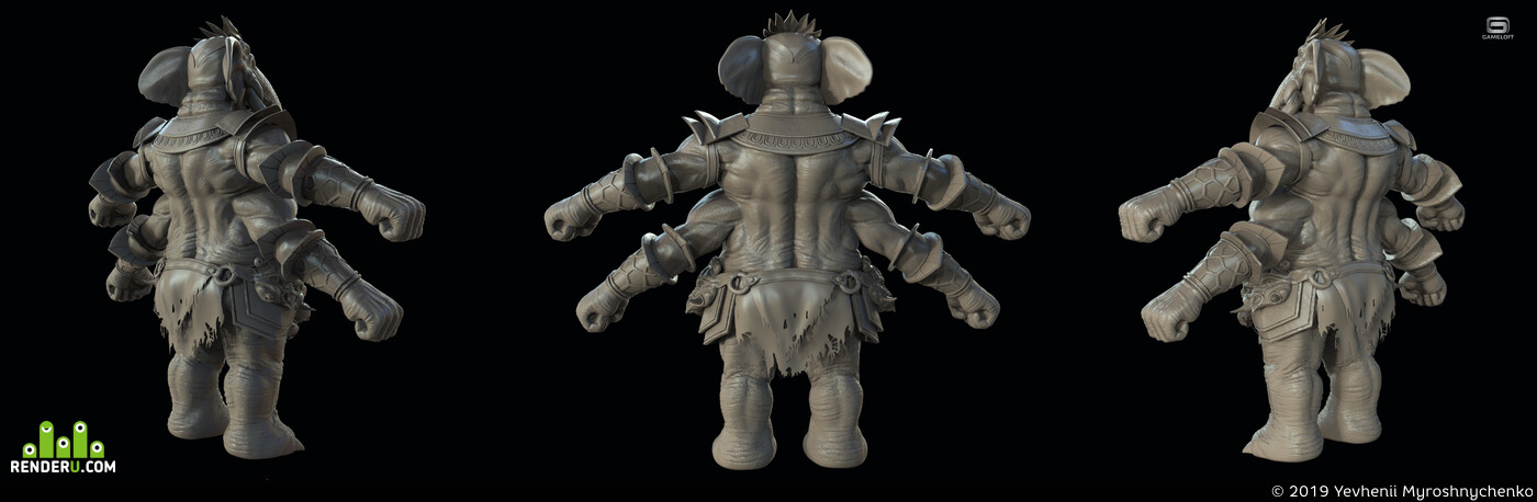 creatures, monster concept creature digital 3d Characters