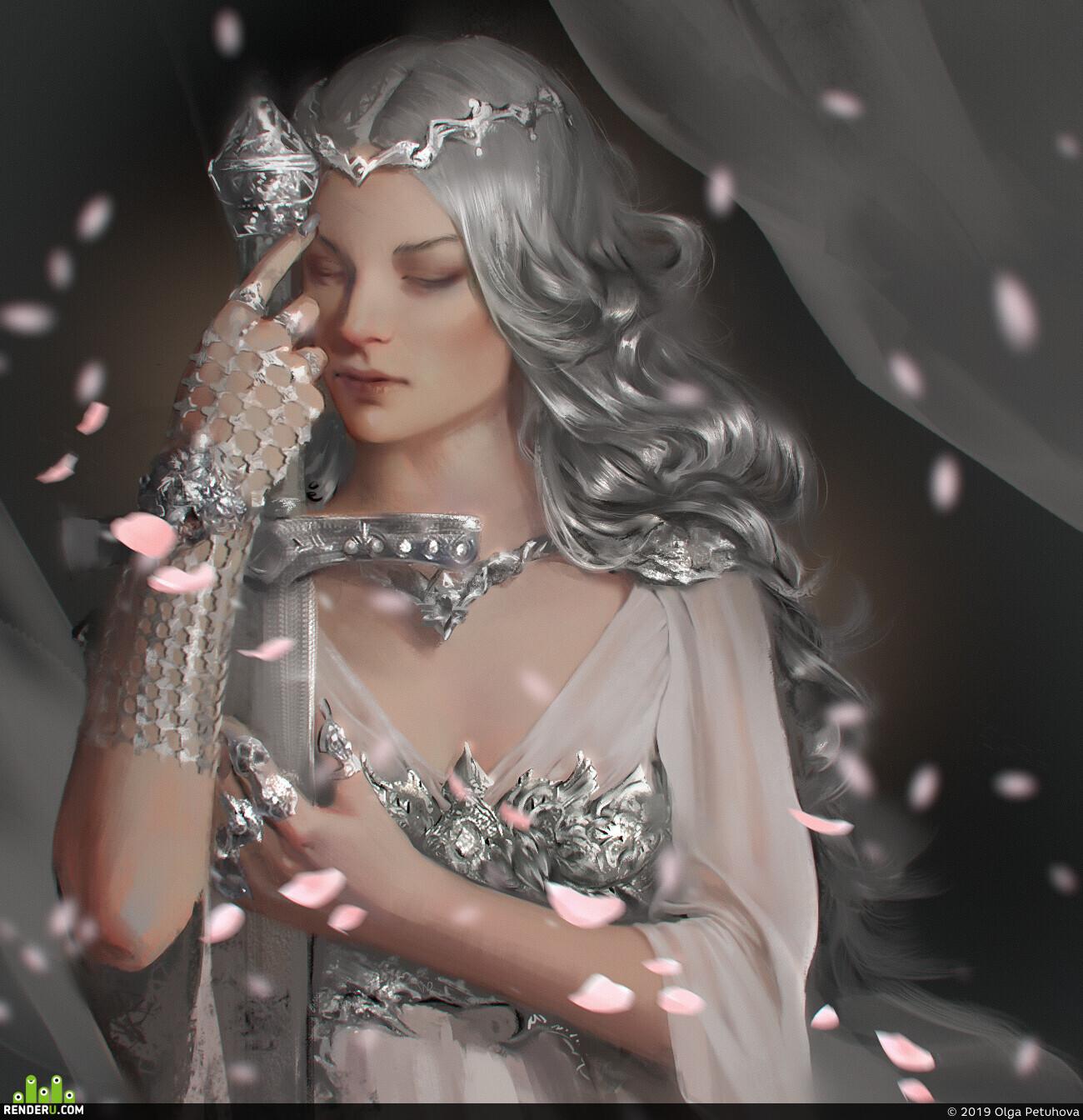 Character, Fantasy, woman, sword