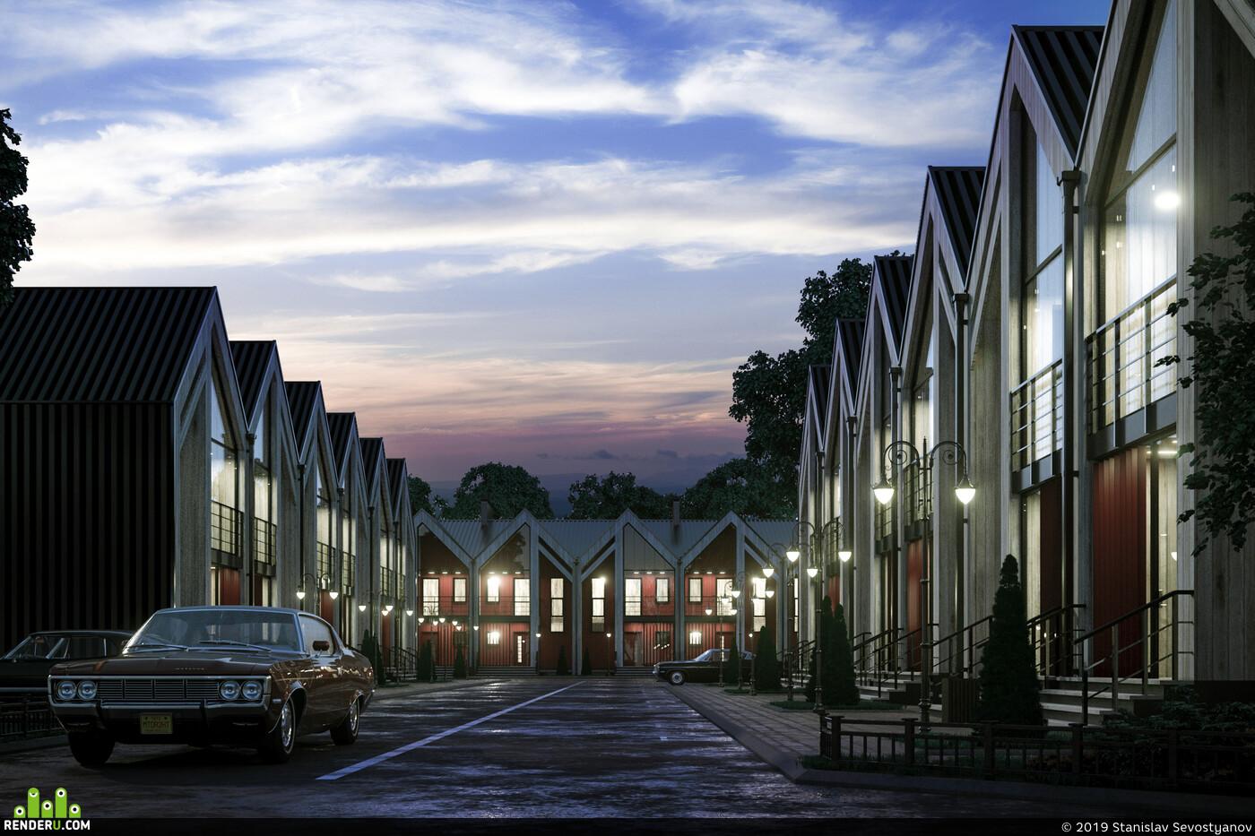 Экстерьер, Архитекура, townhouse, Таунхаус