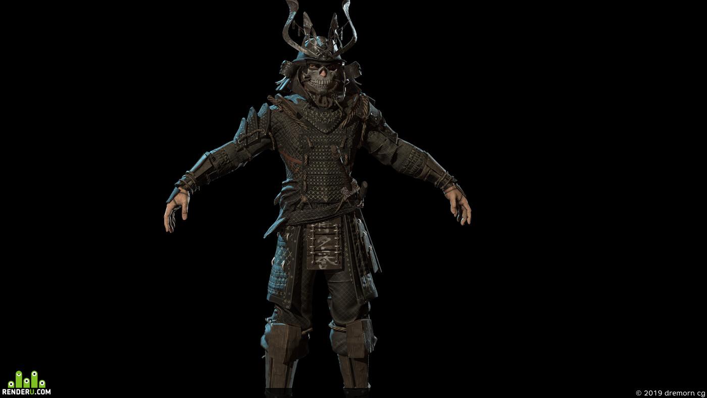 armor, Character, Ronin, samurai, Japan, fight, fighter, guard, helmet, man