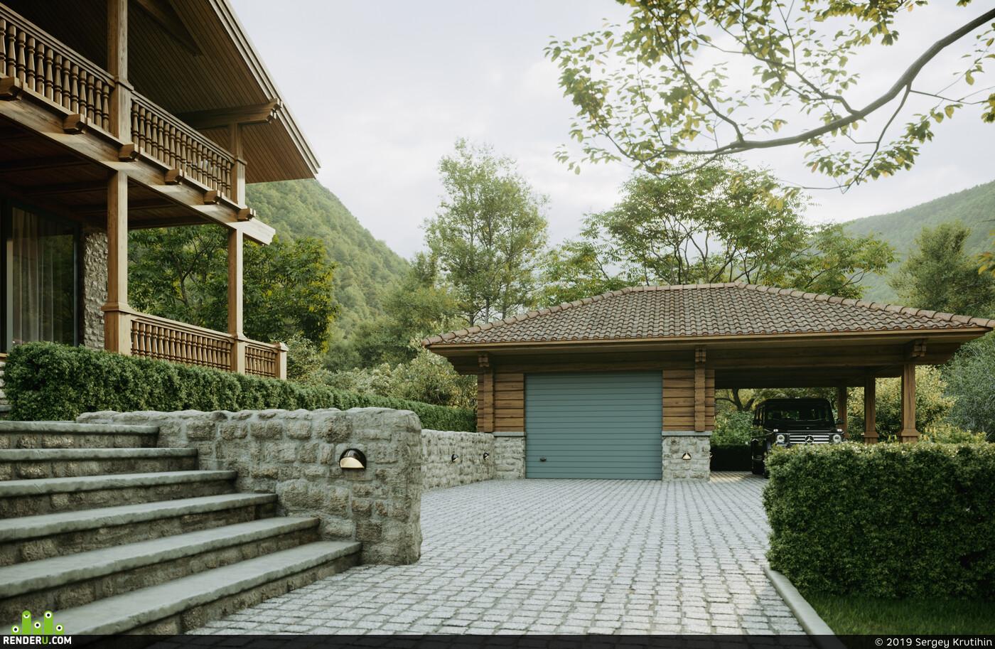 Georgia, Exterior, 3d exterior, exterior visualisation