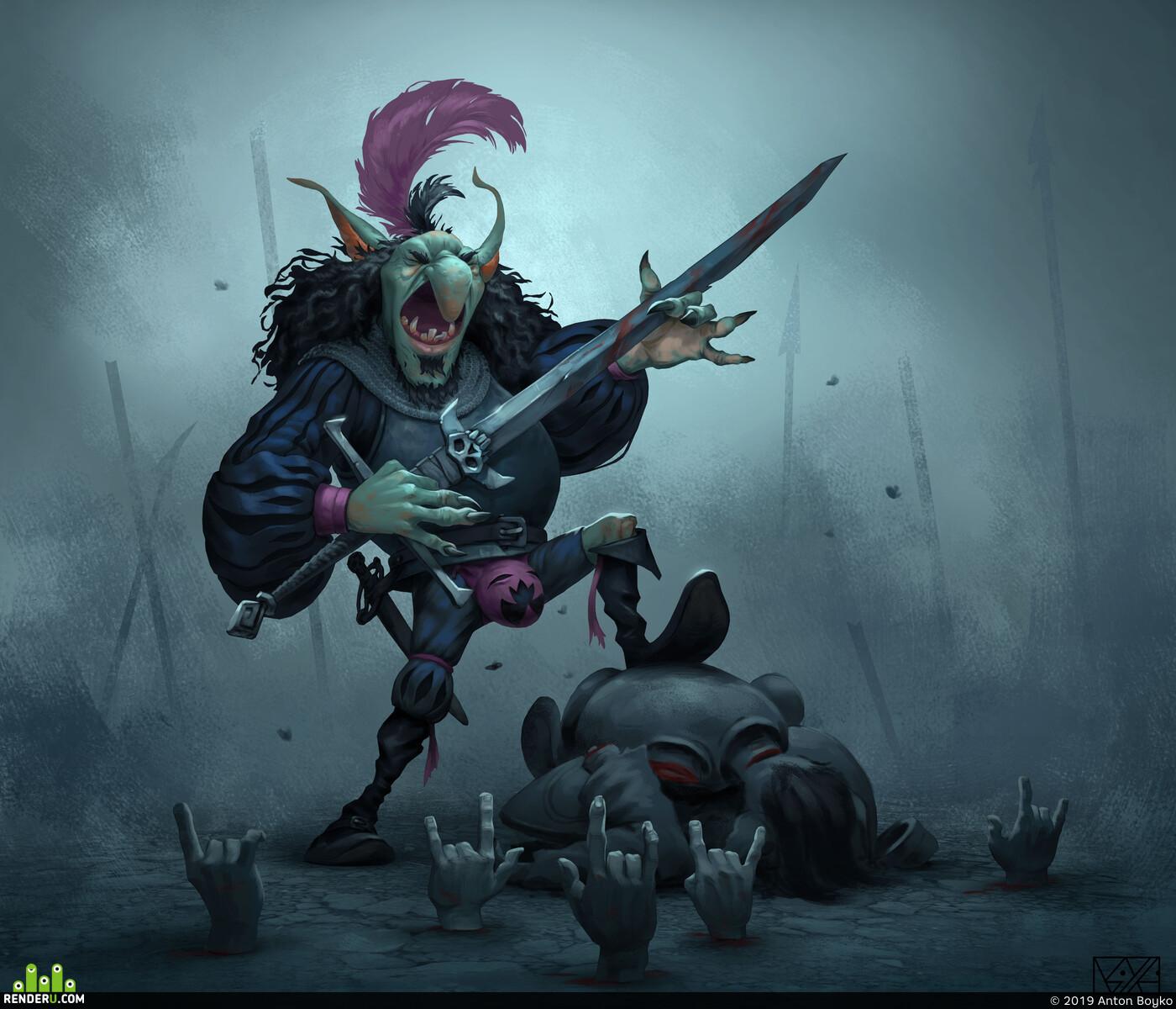 Characters, Digital 2D, Fantasy, Concept art