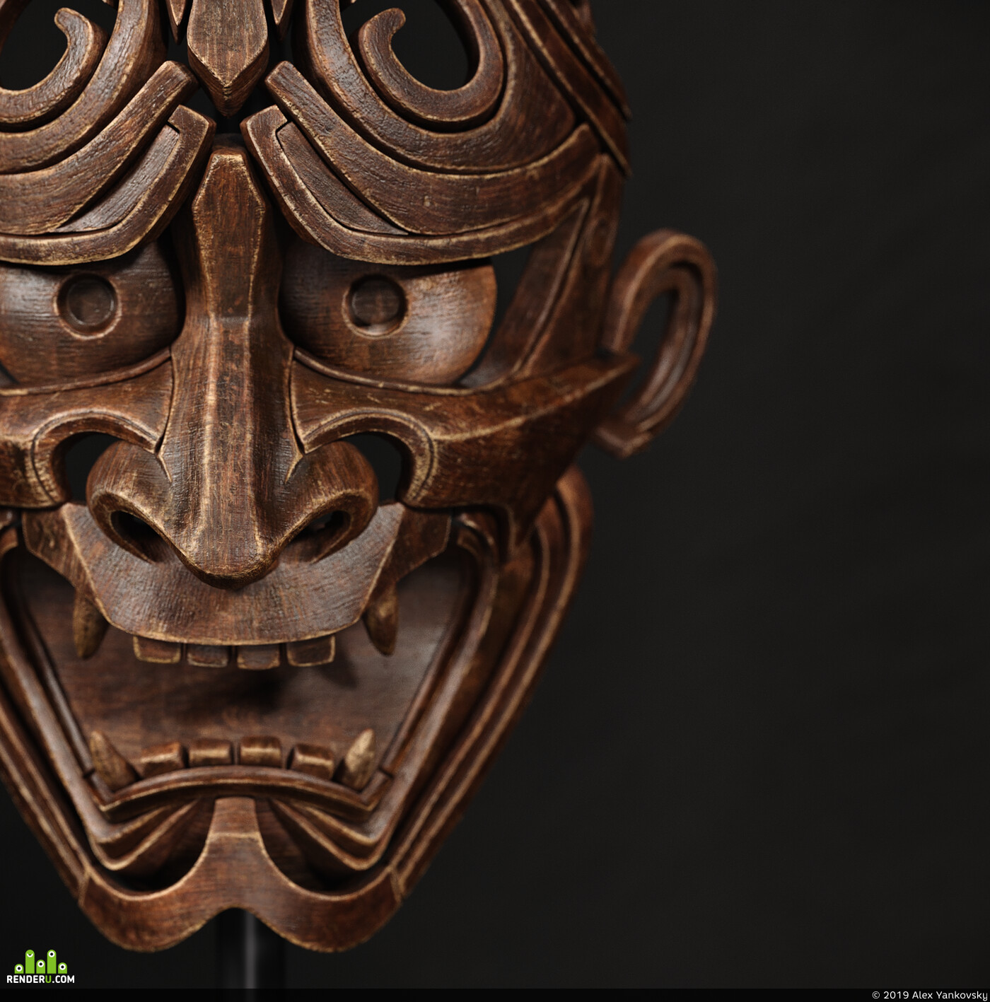 japanese mask, japanes demon
