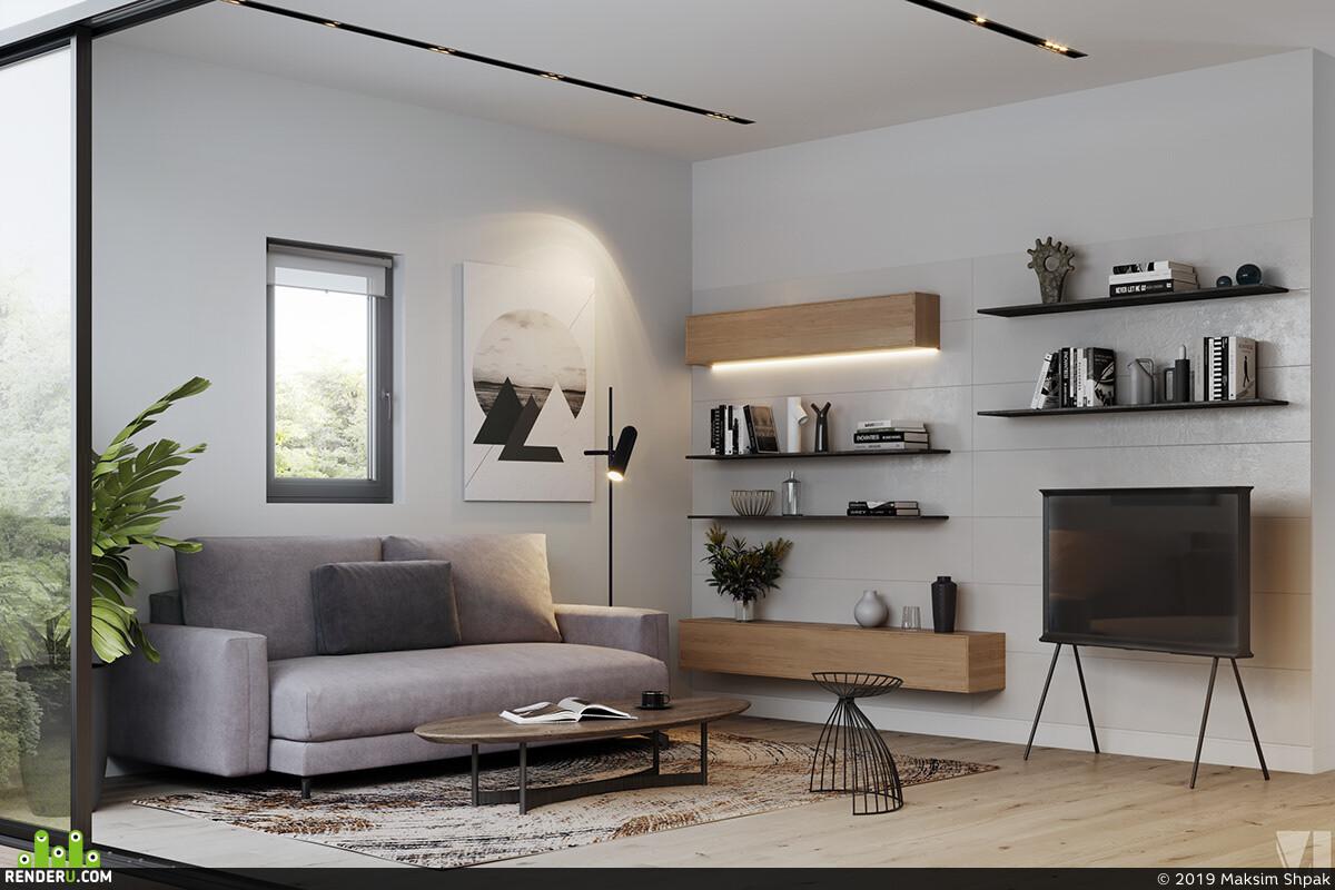 Cinema 4D, 3ds Max, interiordesign, vizualization, vizlinestidio, 3D Architecture