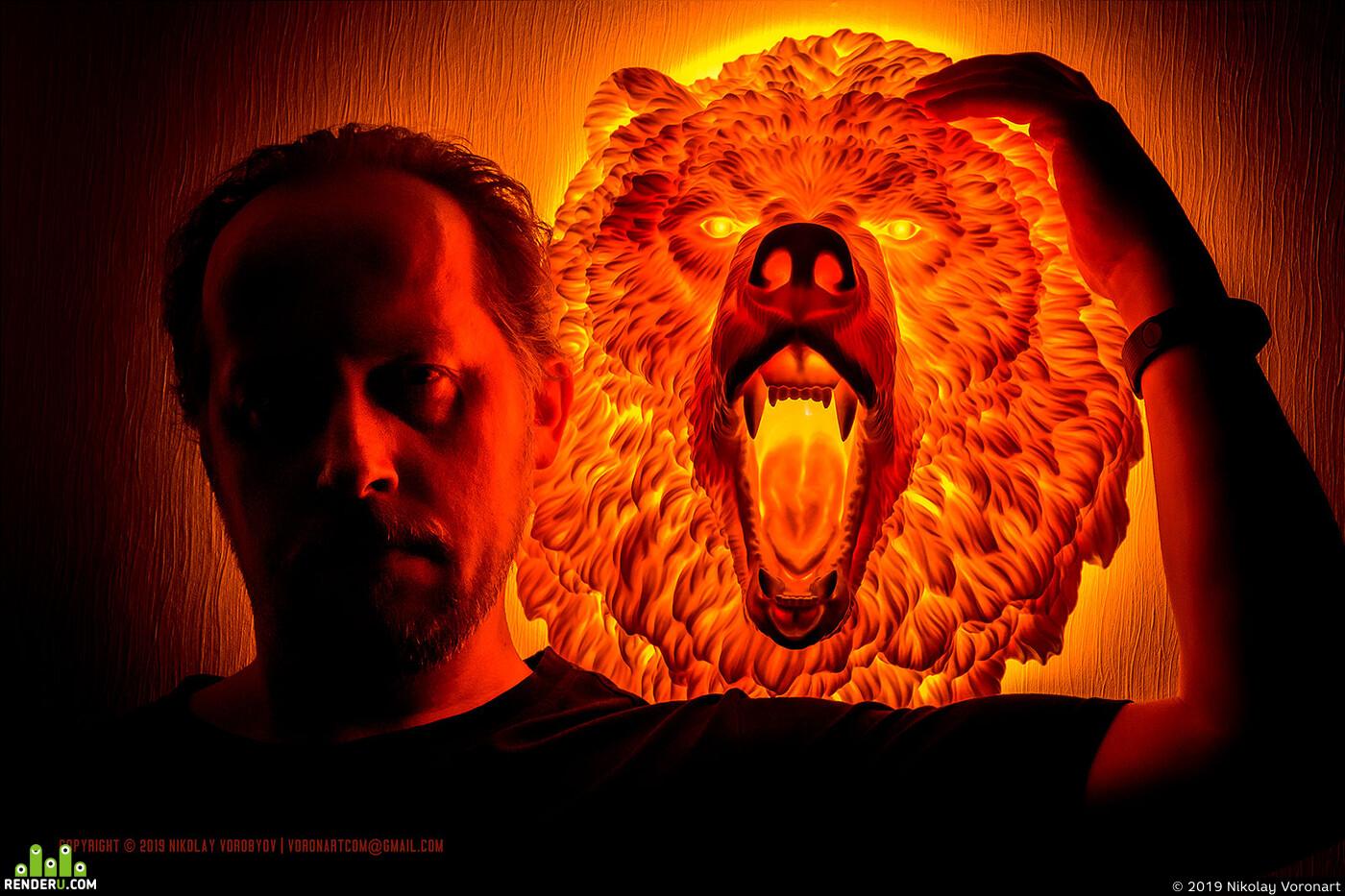 Картинка огненный медведь