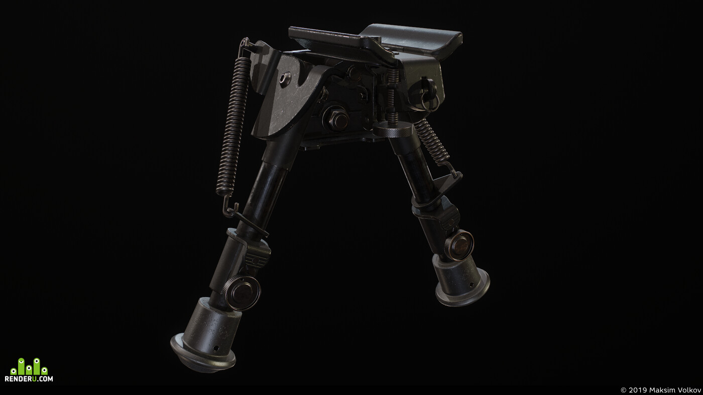 weapons, Sniper rifle, PBR, orsis, game, game asset