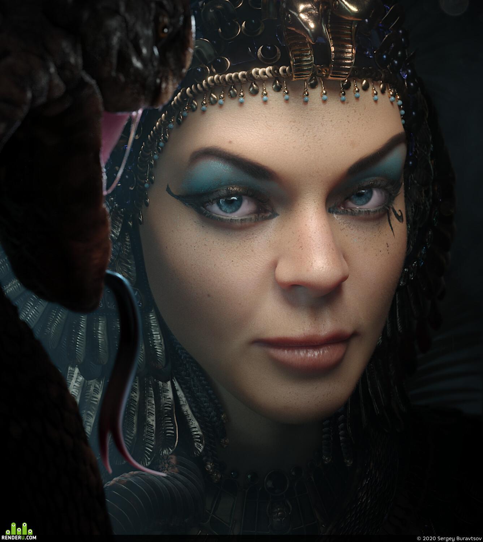 Cleopatra, snake