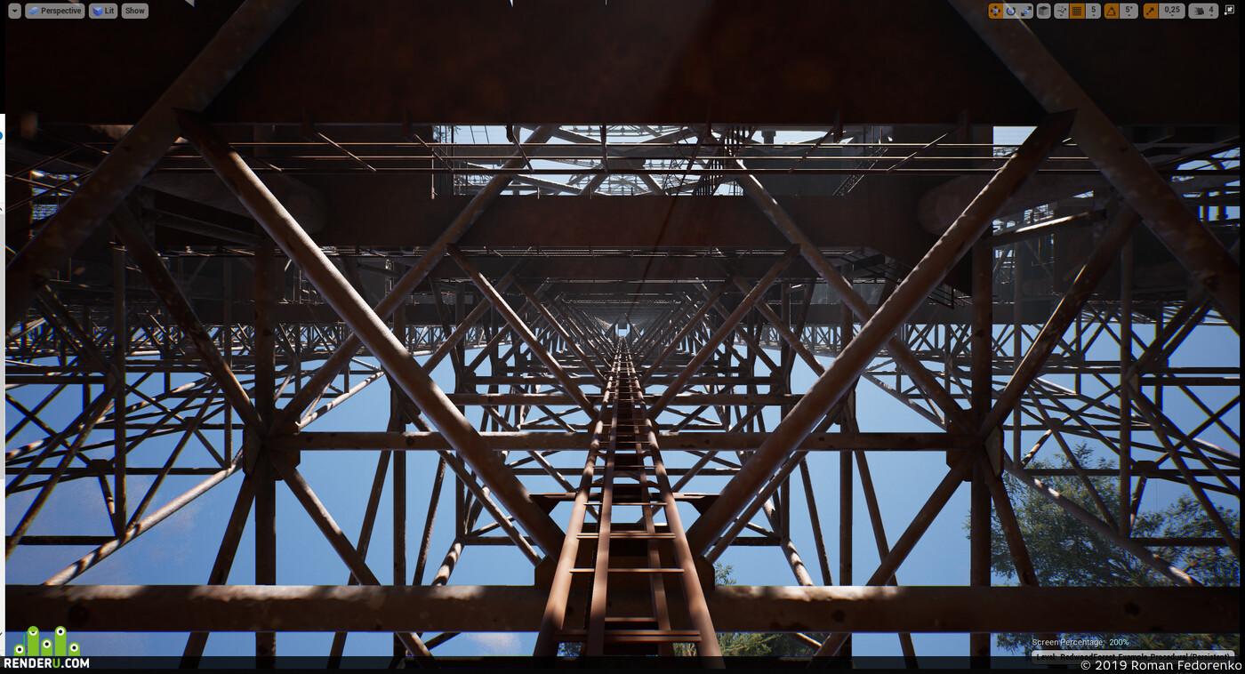 duga, zgrls duga, згрлс дуга, рлс дуга, Чернобыль, Припять, чаэс, радиация, игровая модель, low poly