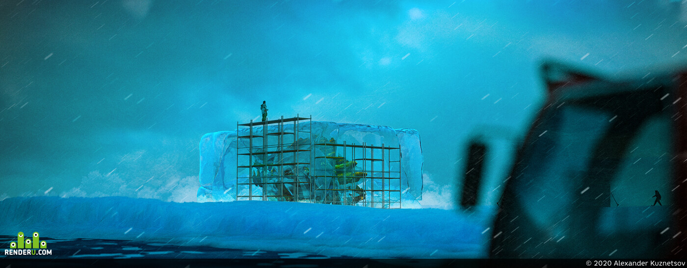 wood1960, Antarctic expedition, ConceptArt