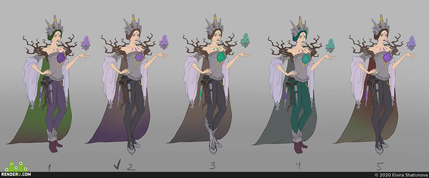 ArtWar4, ArtWar, магия, голем, волшебница, концепт, концепт персонажа