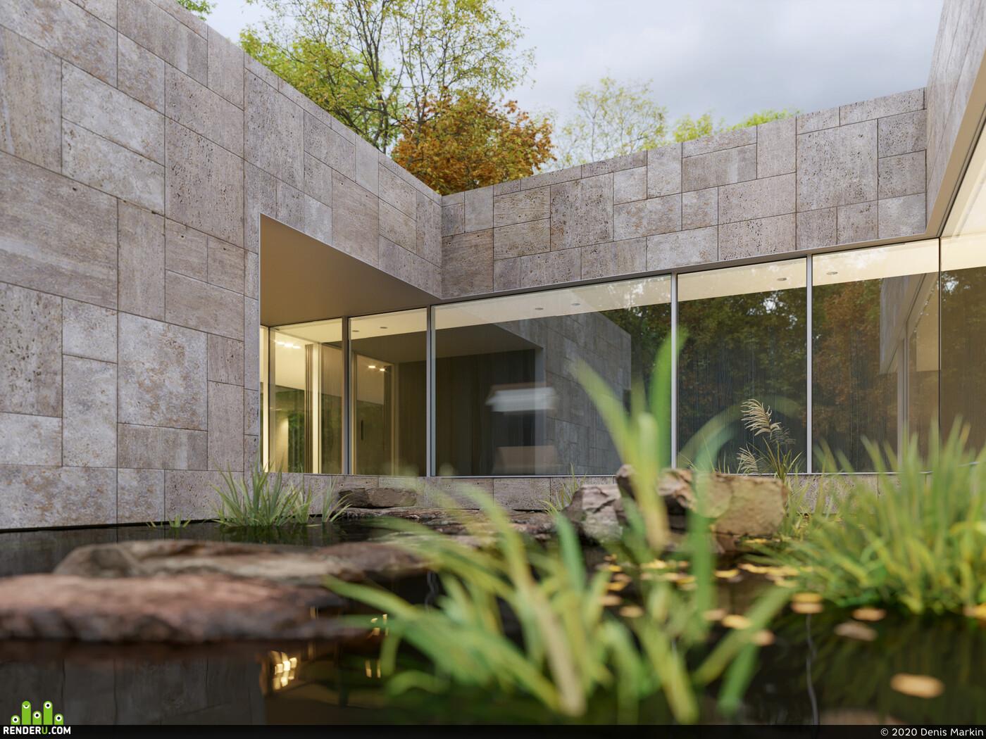 3D Architectural Visualization, 3D Architecture, coronarenderer, Exterior 3d visualization Corona Renderer corona 1.7 coronarenderer