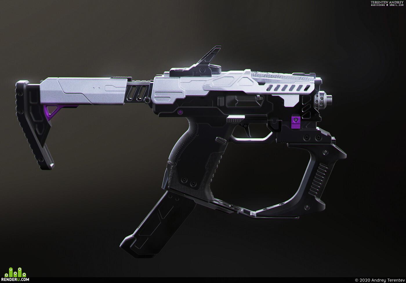 3d, guns, digital, digital3d, fusion360, design, pistol, hardsurface, weapon