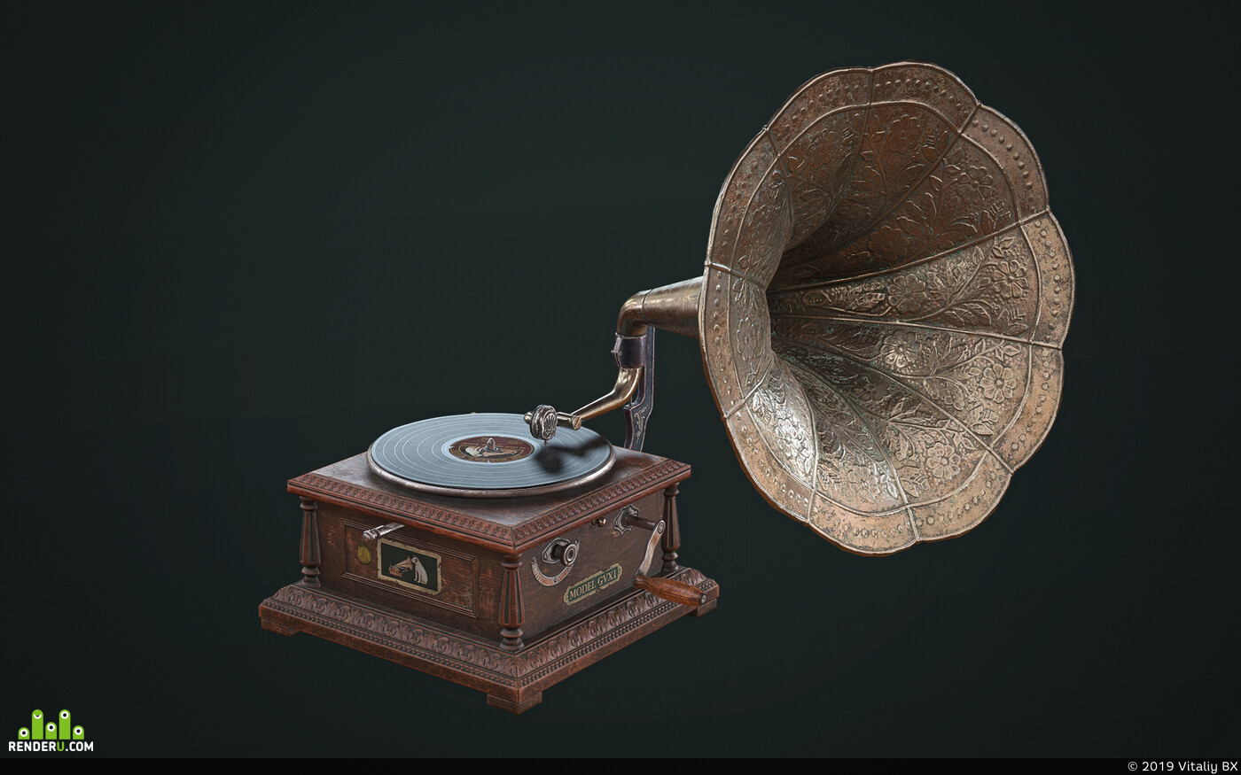 gramophone, Game Low-poly
