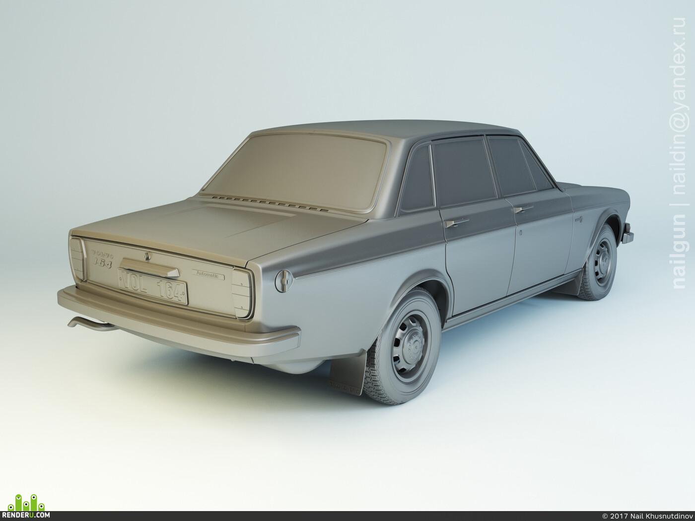 nailgun3d, nailgun, Car / motorcycle, volvo, volvo-164, car, vechicle, automotive