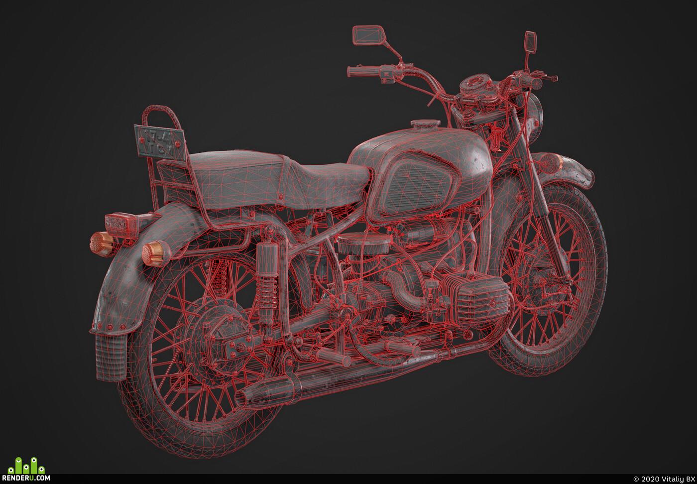 bike, Dnieper, motorcycle