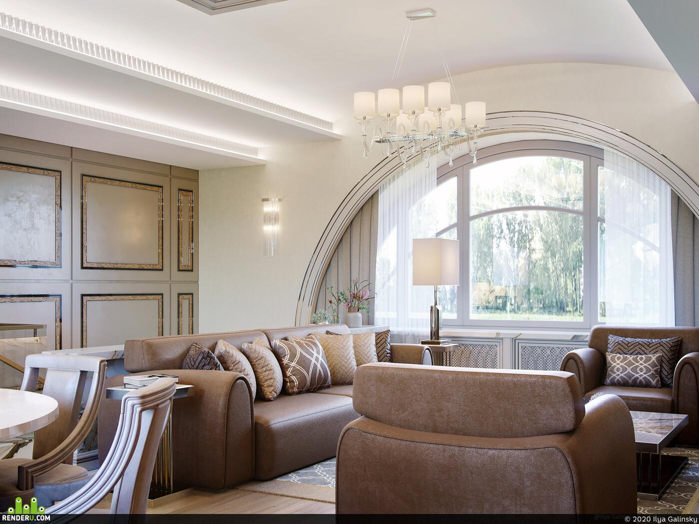 3ds Max, corona, art deco, interier, interior design,