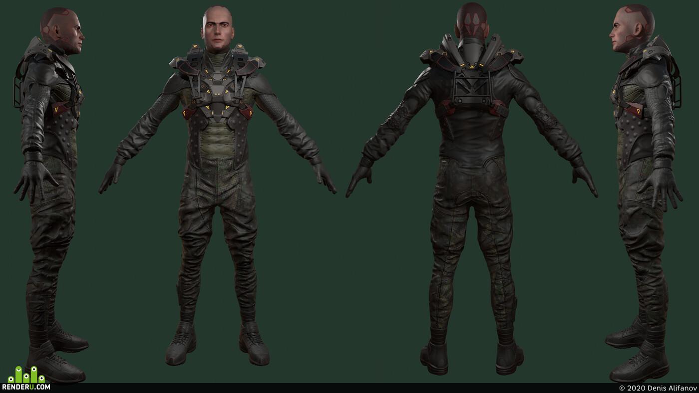 soldier, sci-fi,, sci fi armor, armor, warrior, marmorset