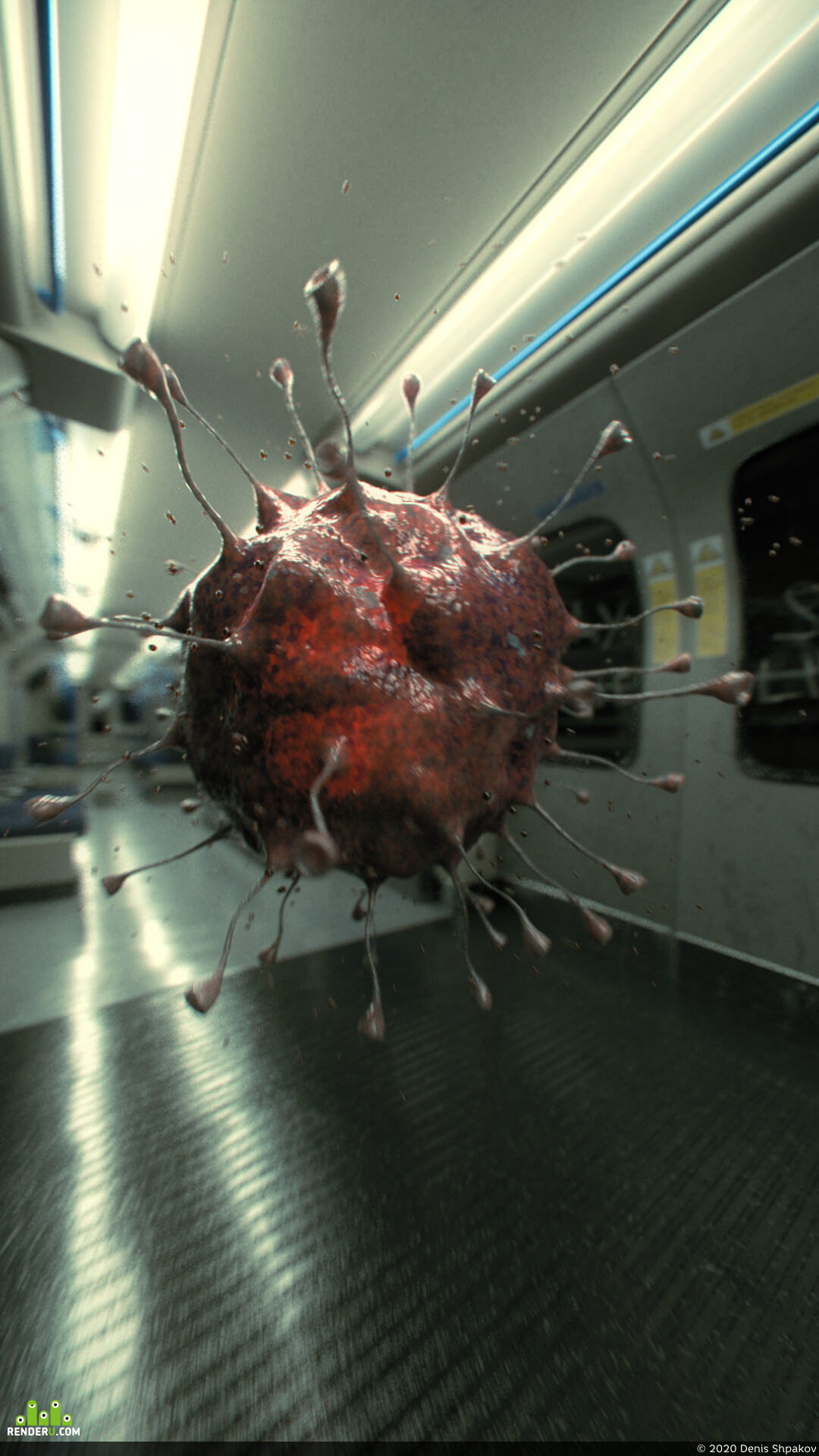 dssvfx, denisshpakov, Coronavirus, COVID-19, shading, textures, 3D MODELLING