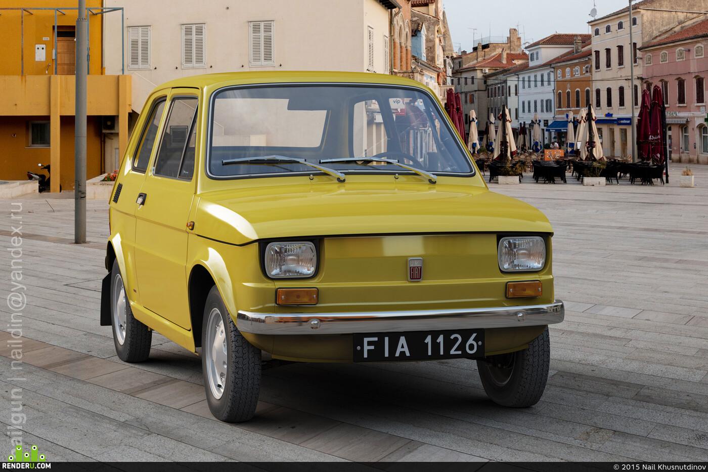 Poland, polsky, Polish, Malych, 126p, fiat, car, 2-door, retro, Car / motorcycle