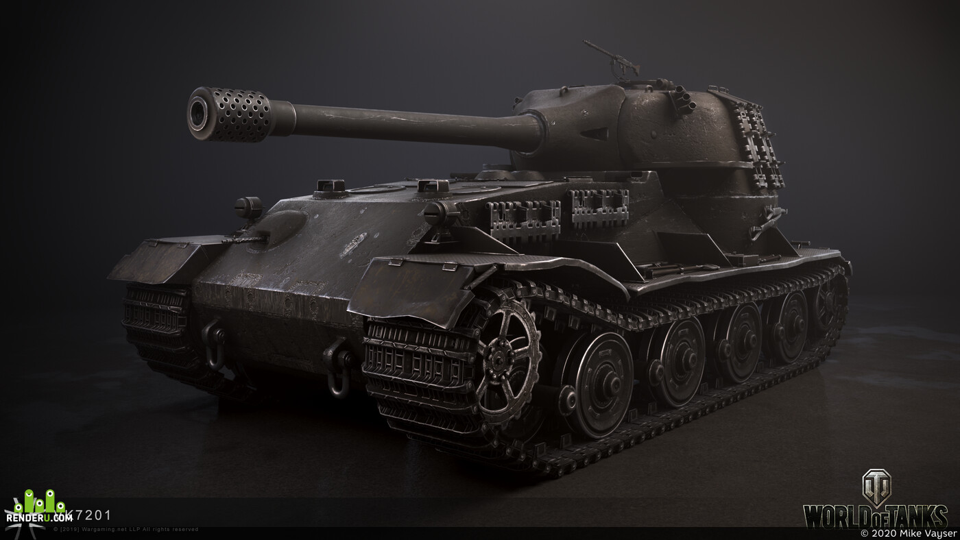 WOT, gameart, gamedevelopment, game asset, Game-Art, game low poly, tank, Tanks, low_poly tank, VK72.01