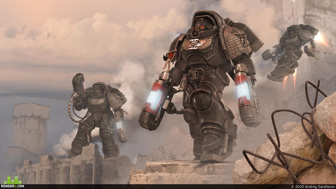 wh40k, Warhammer, Warhammer 40000, space marines, primaris space marines, inceptors, deathwatch