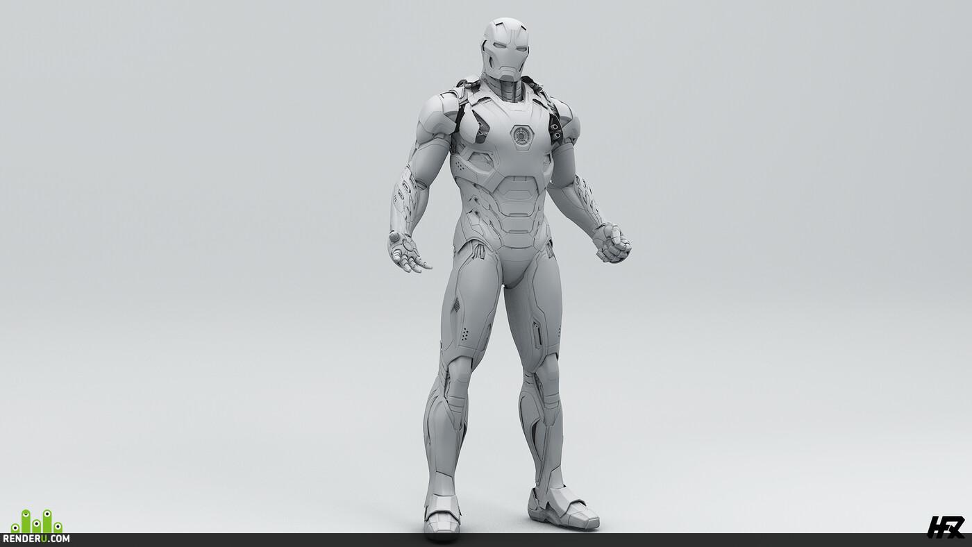 iron man, Mark 45, Avengers, robot