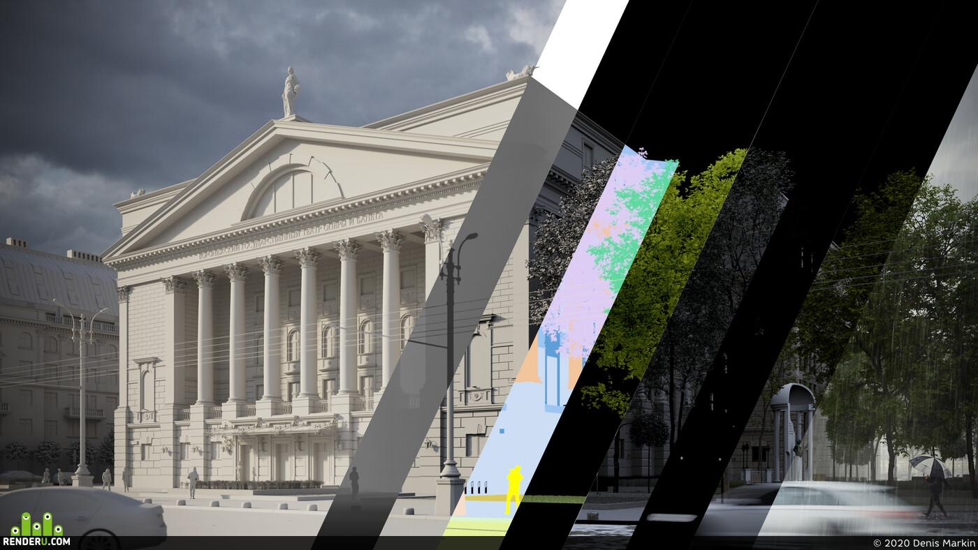 3D архитектура архитектурная визуализация визуализация, архитектура, корона Архитектурнаявизуализация
