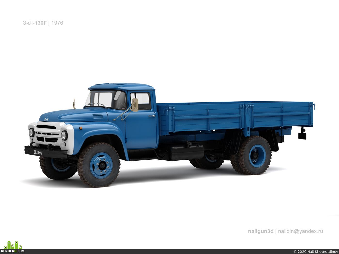 nailgun3d, russian, truck, cargo, ussr, zil