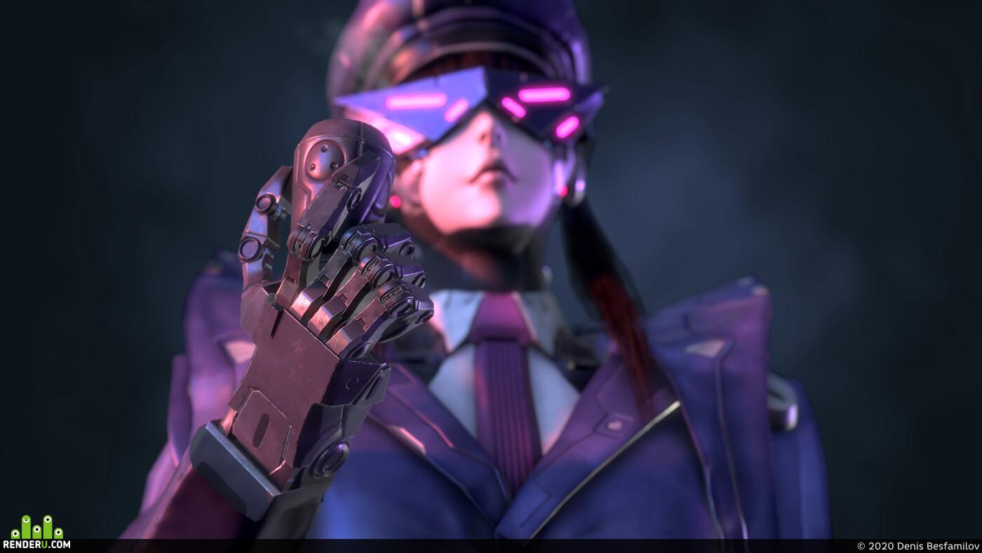 robot, girl, Mecha
