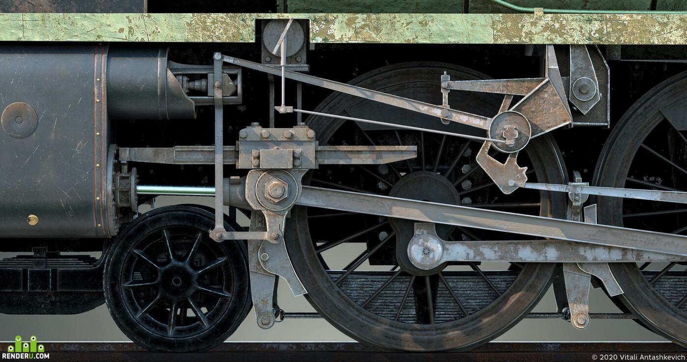 Oliver  Cromwell class 7mt, 3Dsmax, Vray, substancepainter, render, rendering, vizualization, 3d, 3dmodel, hardsurface
