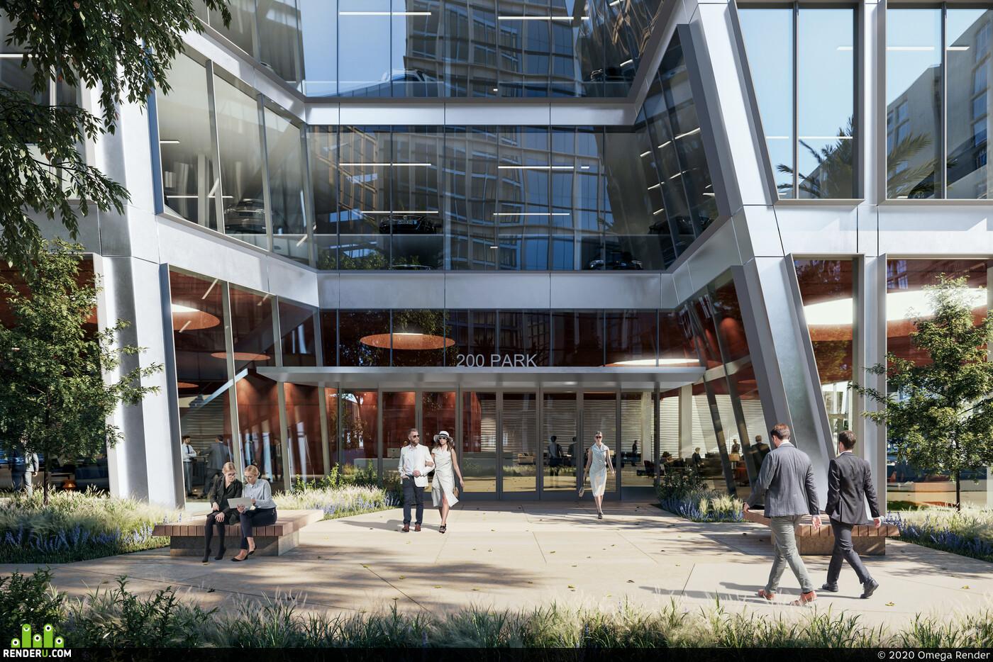 Exterior architecture, fullcgi, 3d, rendering, 3d design