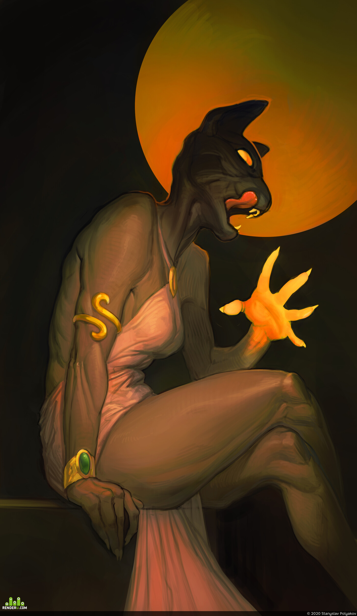 бастет, мифология, древний египет, Кошка