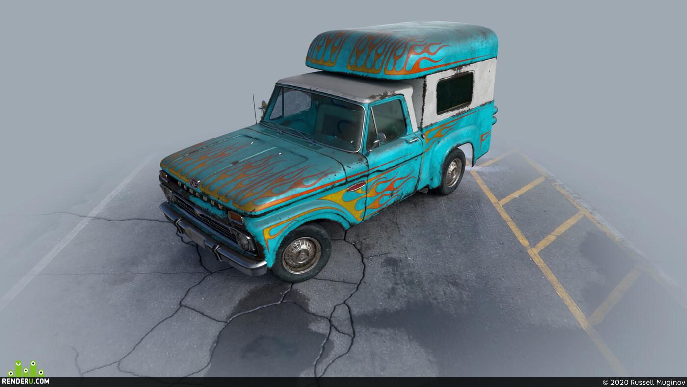automobile, mercury, Ford F100, car