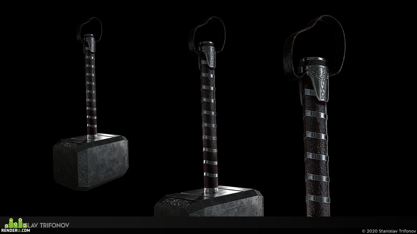 3d, Autodesk Maya, Maya, Adobe Photoshop, MarmosetToolbag, render in marmoset, Artist, game art