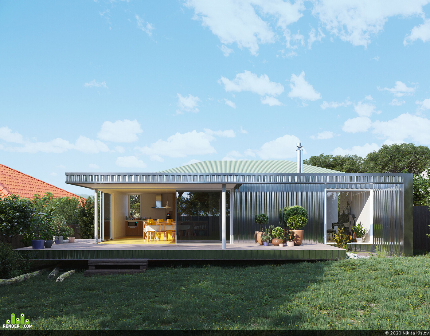 metal, greenhouse, house, Exterior, exteriorrendering, exterior visualization, Exterior architecture, 3D Architectural Visualization Architecture Public building interiordesign exterior visualisation