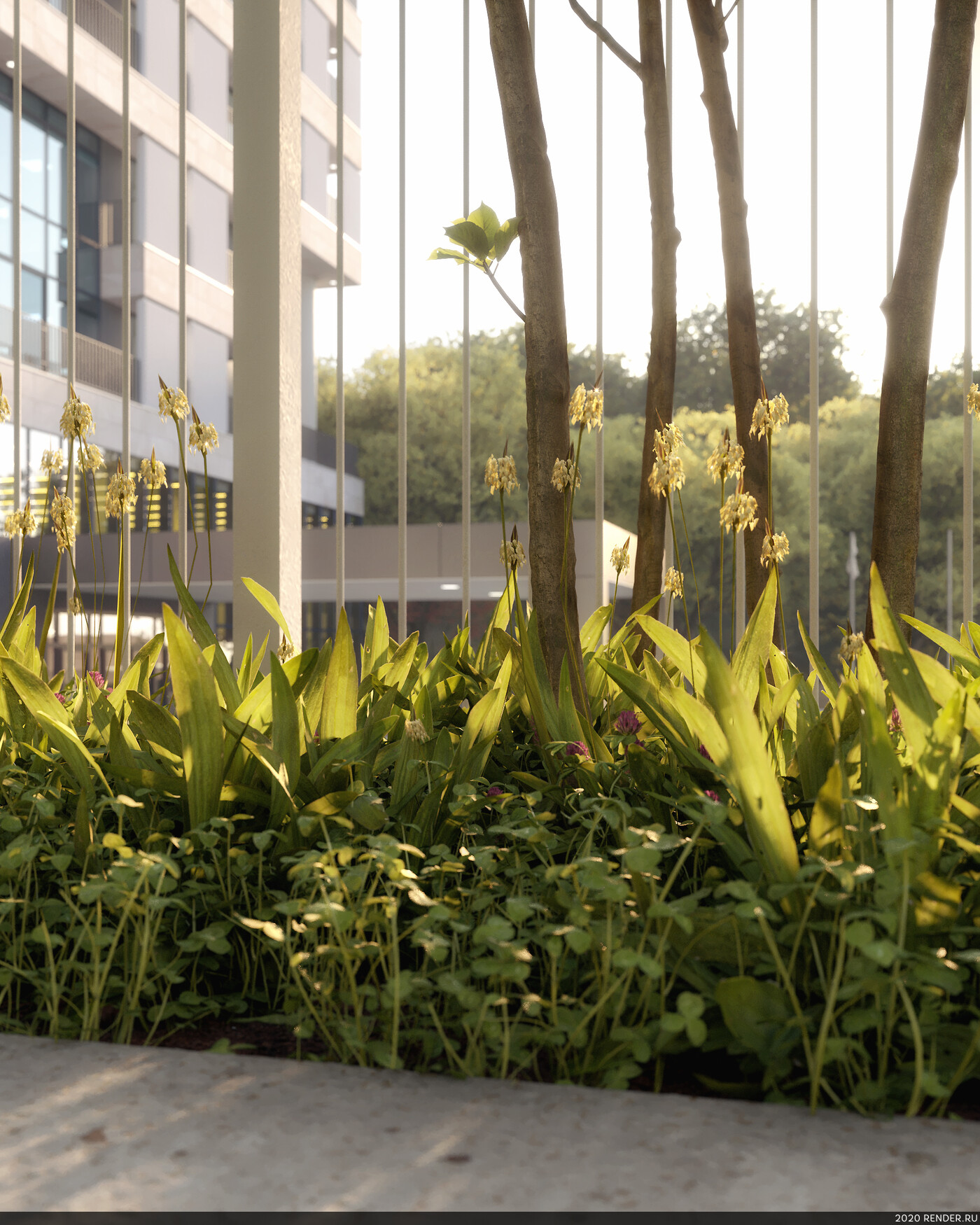 architecture, Subject visualization, Office building, modern office, Nature
