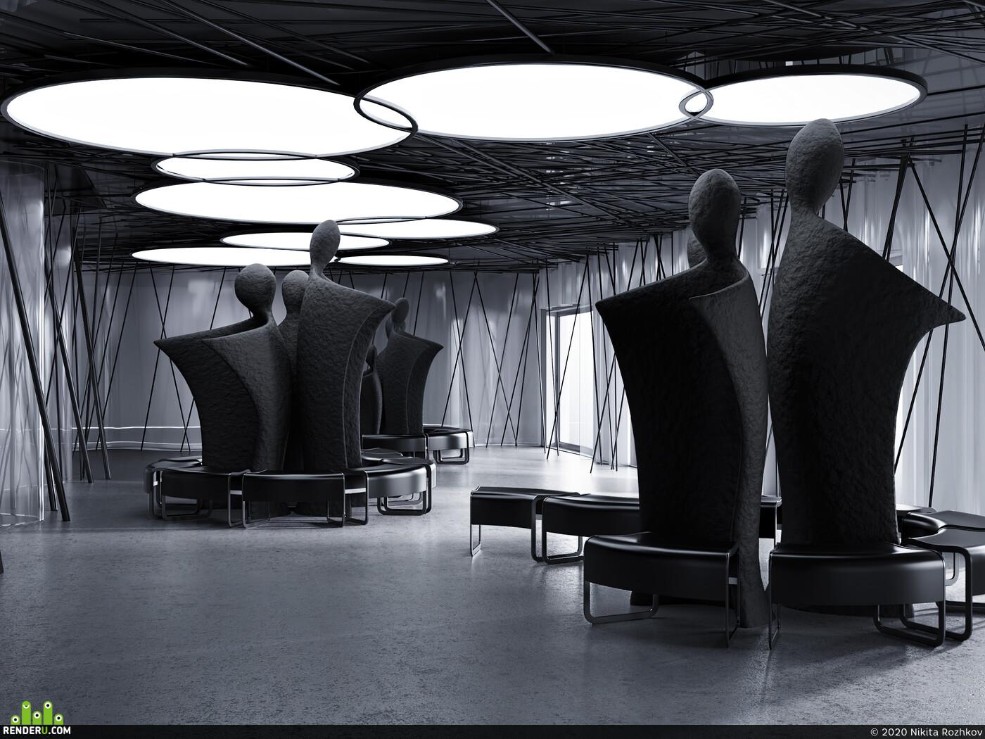 3Dsmax, coronarenderer, 3D Architecture