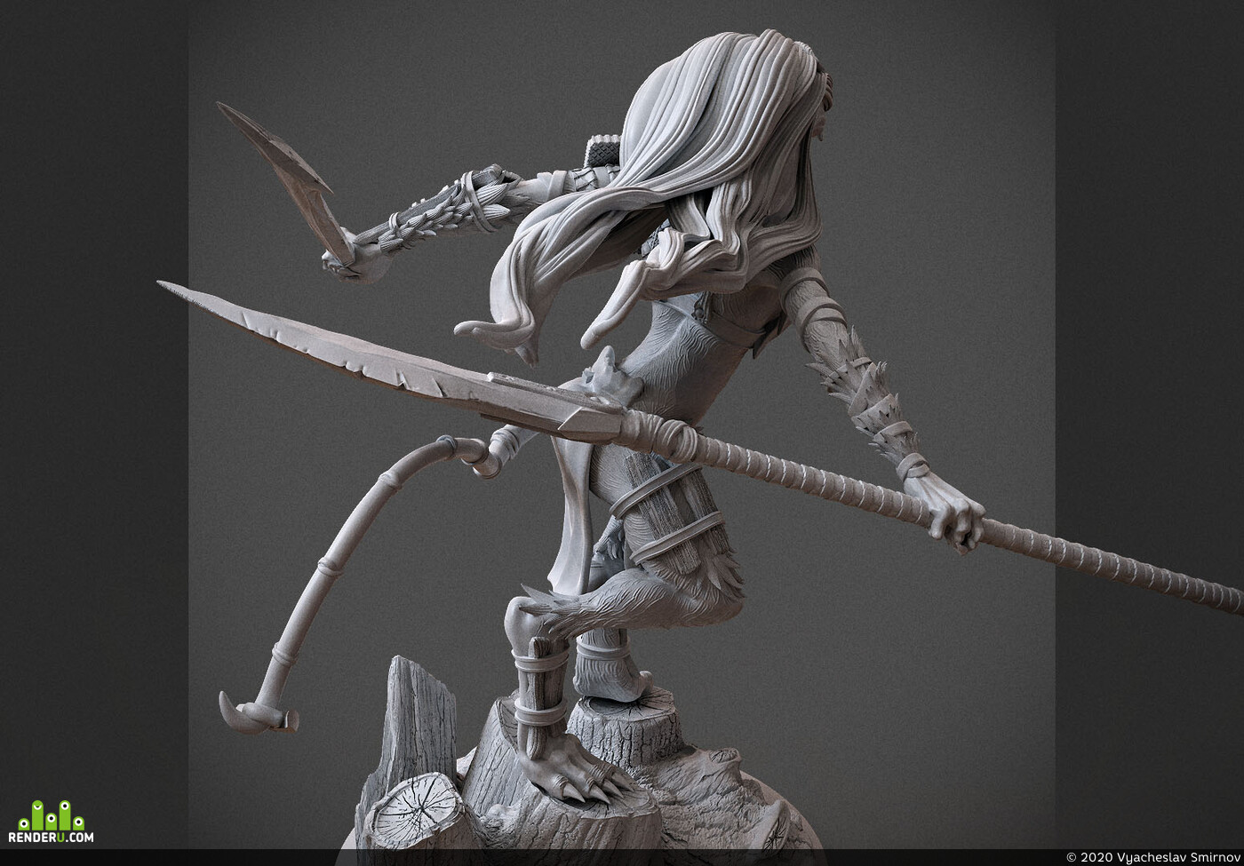 Digital 3D, Fantasy, Board & Card Game Art, Character Modeling, Ink-Eyes, Magic: The Gathering, mtg, magic, Wizards of the Coast
