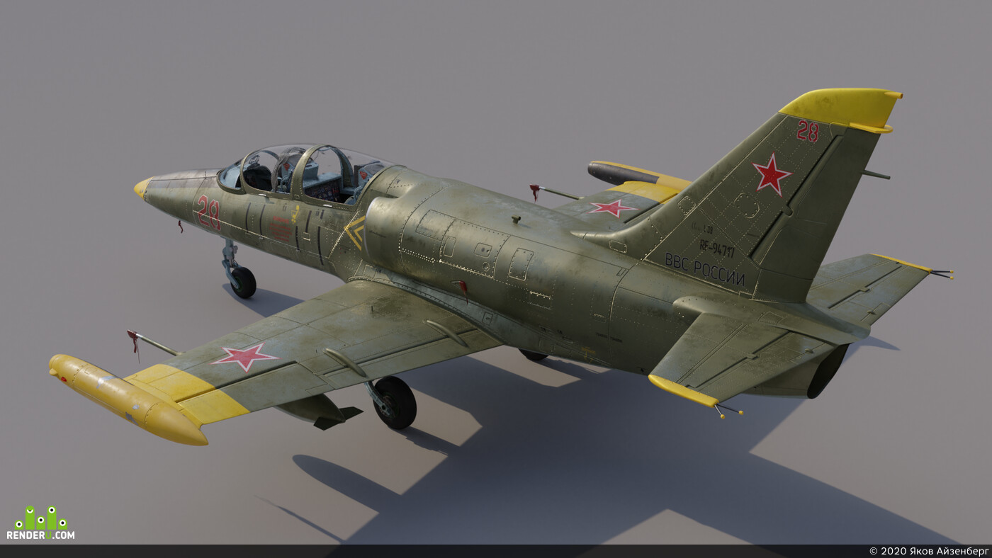 plane, warplane, model, blender, 3d, 3dart